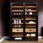 Nordal Viva Black Wood Cabinet with Glass Doors from Accessories for the Home