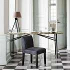 Brass Topped Dining Table from Accessories for the Home