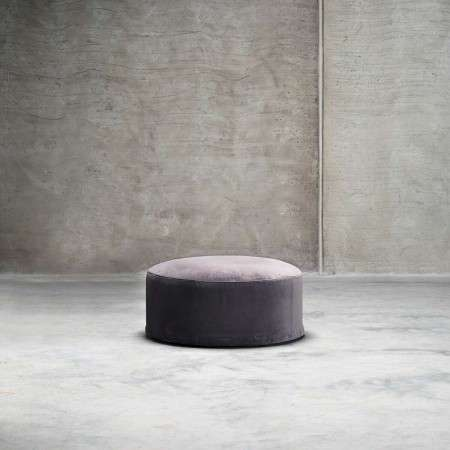 Tinekhome Smoke Velvet Pouffe from Accessories for the Home