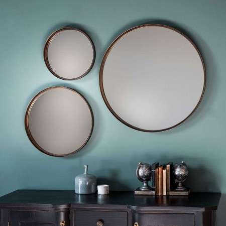 Reading Set of 3 Round Wall Mirrors