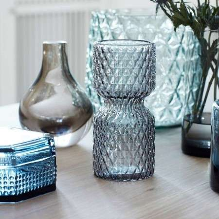 Hubsch Decorative Glass Vases set of 2