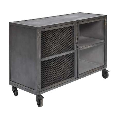Muubs Bronx Black Iron & Mesh Bar Cabinet from Accessories for the home