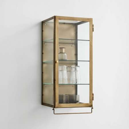 Nordal Wall Hanging Display Cabinet in Gold from Accessories for the Home
