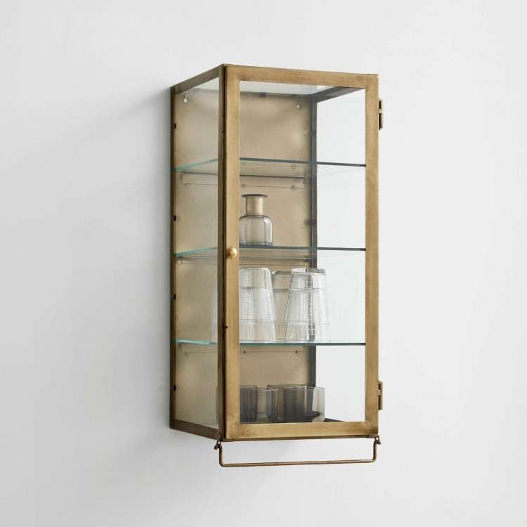 Nordal Golden Wall Hanging Display Cabinets from Accessories for the Home