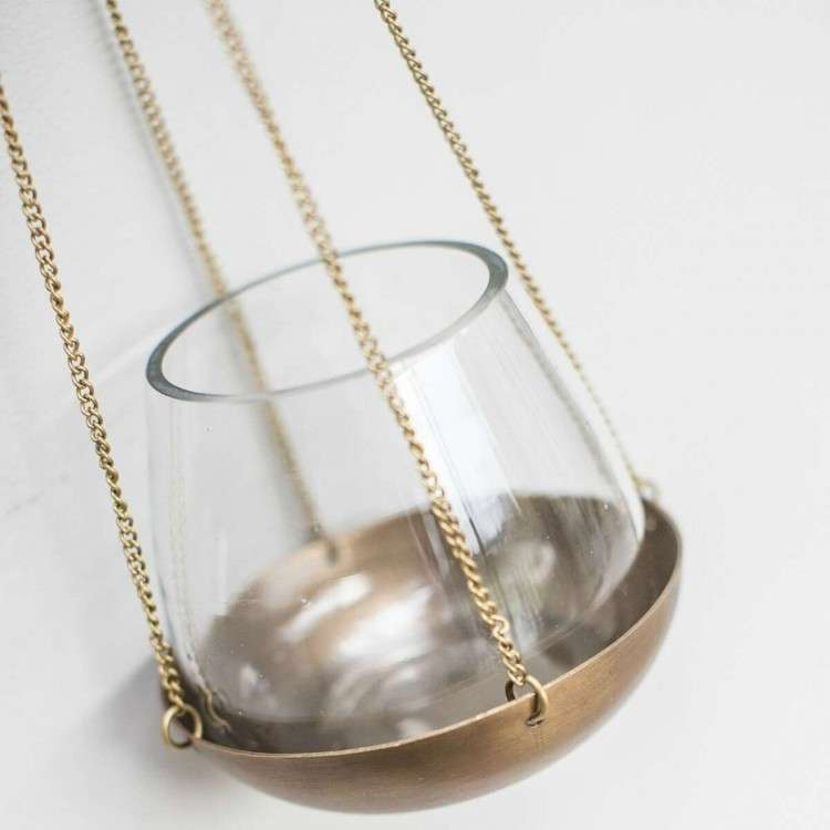 Antique Brass Hanging Votive from Accessories for the Home