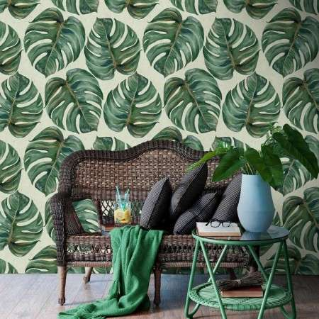 Tropical Leaf Wallpaper from Accessories for the Home