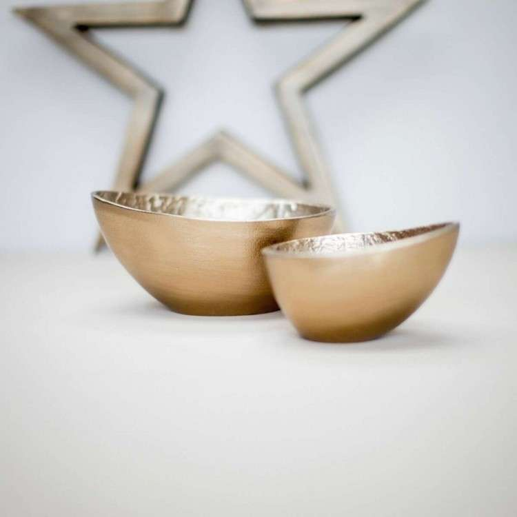 Oval Brass Bowls from Accessories for the Home