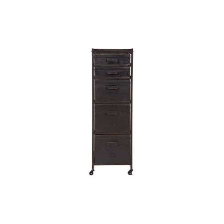 BePureHome Stuff Black Metal Drawer Cabinet from Accessories for the Hiome