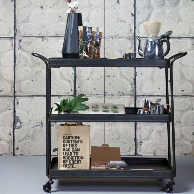 BePureHome Black Metal Tea Trolley from Accessories for the Home