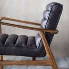 Dayton Ebony Leather Armchair from Accessories for the Home