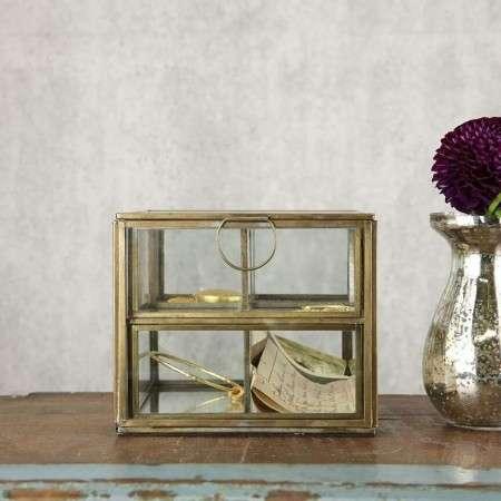 Bequai Brass Compartment Jewellery Box