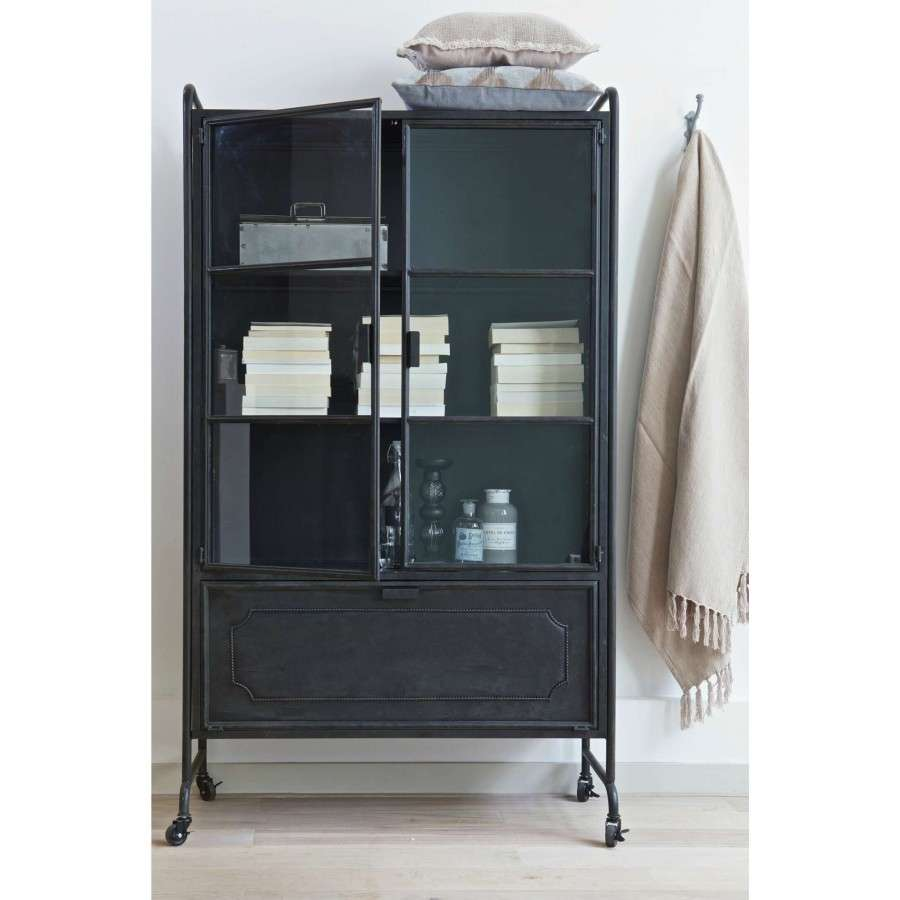 Metal Black Kitchen Cabinets: Metal Storage Cabinet Black From Accessories For The Home