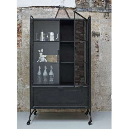Beau BePureHome Black Metal Storage Cabinet