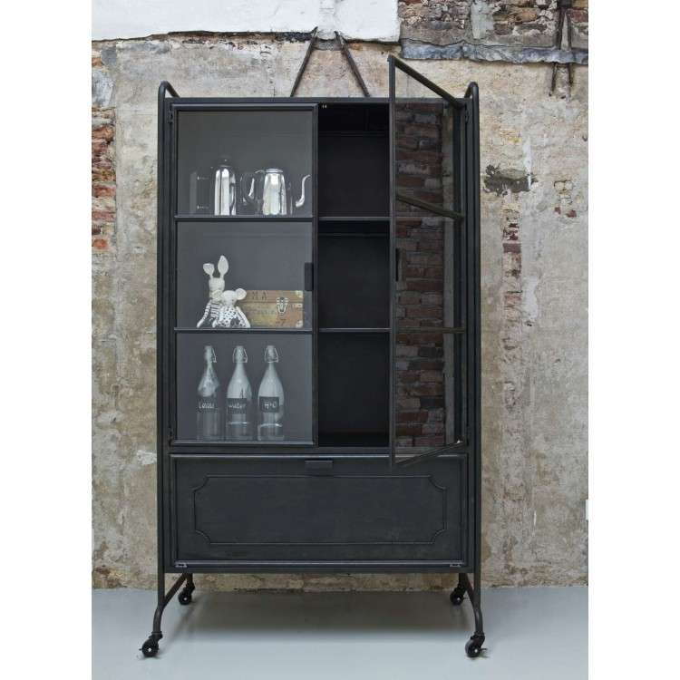 Metal Storage Cabinet Black from Accessories for the Home