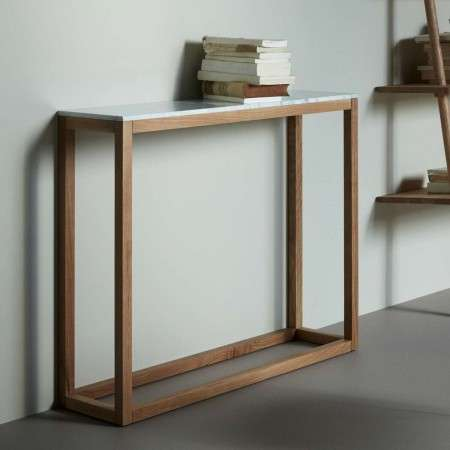 Hubsch Wood & Marble Console Table from Accessories for the Home