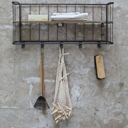 BePureHome Giro Vintage Wall Shelf with Hooks from Accessories for the Home