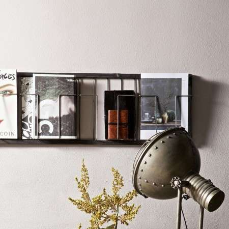 BePureHome Black Metal Magazine Rack from Accessories for the Home