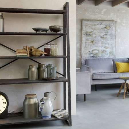 BePureHome Splurge Black Metal Shelving Unit