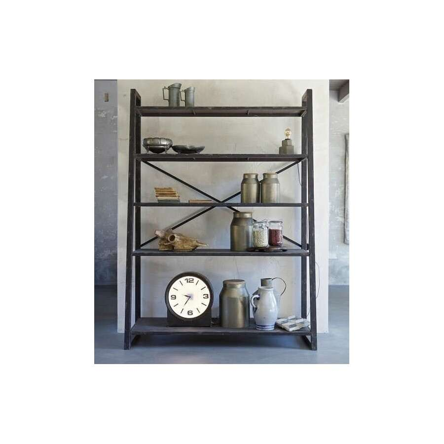 Bepurehome Splurge Black Metal Shelving Unit Acc For The