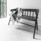 Black Teak Bench from Accessories for the Home