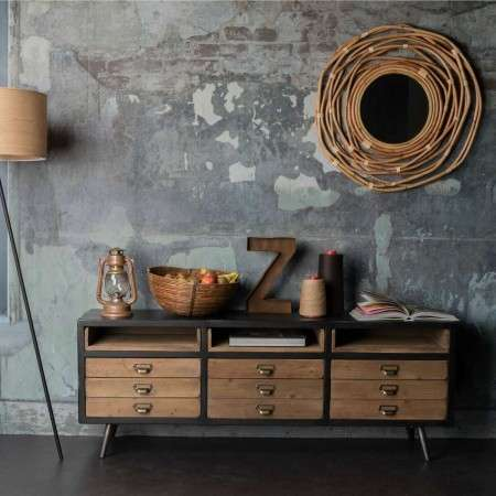 Dutchbone Sol Vintage Style Low Sideboard