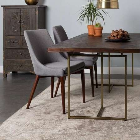Dutchbone Class Dining Table in a Classic Herringbone Finish