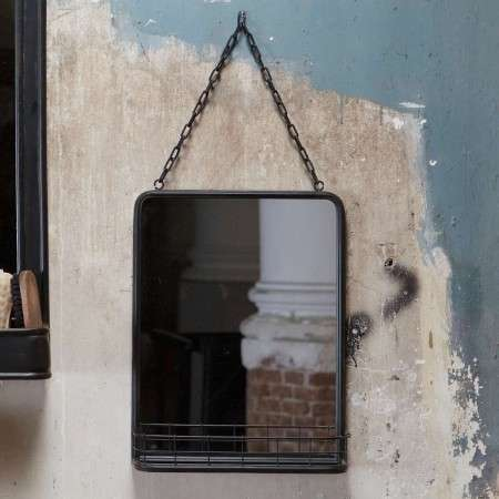 BePureHome Speak Industrial Style Metal Hanging Mirror