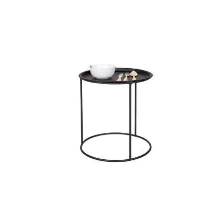 Woood Ivar Black Metal Side Table with Tray from Accessories for the Home