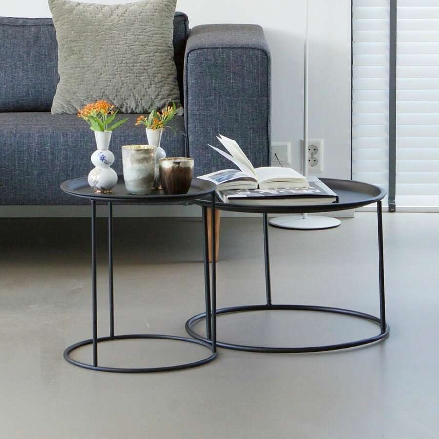 Woood Black Metal Ivar Side Tables With Tray Acc For The