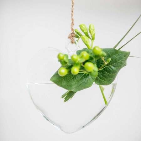 Glass Hanging Heart