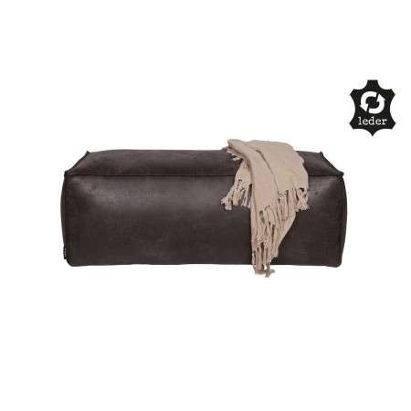 BePureHome Rodeo Leather Pouffe from Accessories for the Home