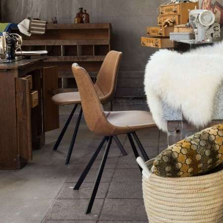 Dutchbone Franky Dining Chair in Vintage PU Leather