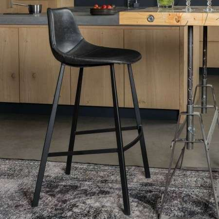 Dutchbone Franky Bar Stools in Vintage PU Leather