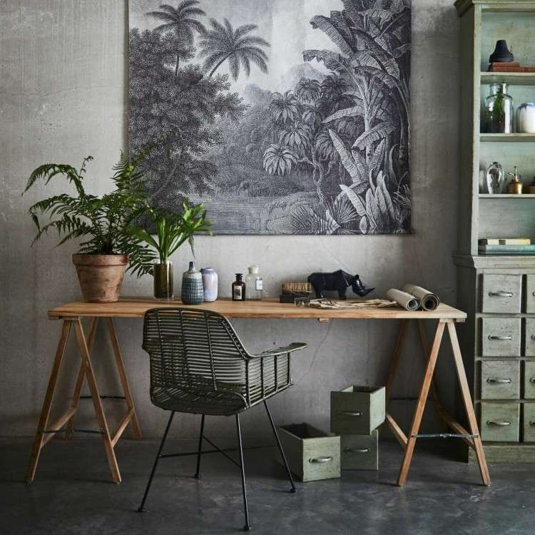 HKLiving Teak Trestle Table from Accessories for the Home