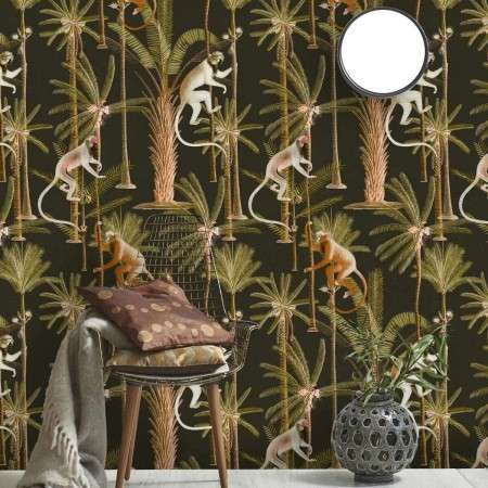 MIND THE GAP Barbados Anthracite Wallpaper
