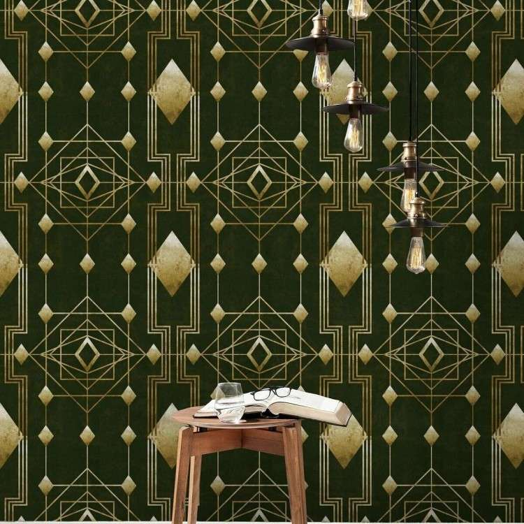 Mind The Gap Gatsby Gold Wallpaper from Accessories for the Home