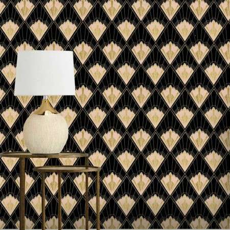 Mind The Gap Revival Black Wallpaper from Accessories for the Home