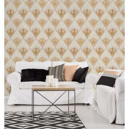 Mind The Gap Revival Taupe Wallpaper from Accessories for the Home