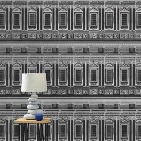 Mind The Gap Vaticano Anthracite Wallpaper from Accessories for the Home