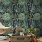 Mind The Gap Succulentus Anthracite Wallpaper from Accessories for the Home