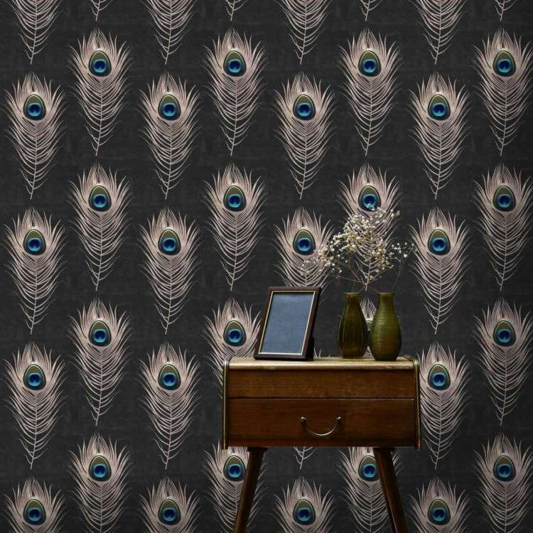 Mind The Gap Peacock Feather Wallpaper from Accessories for the Home