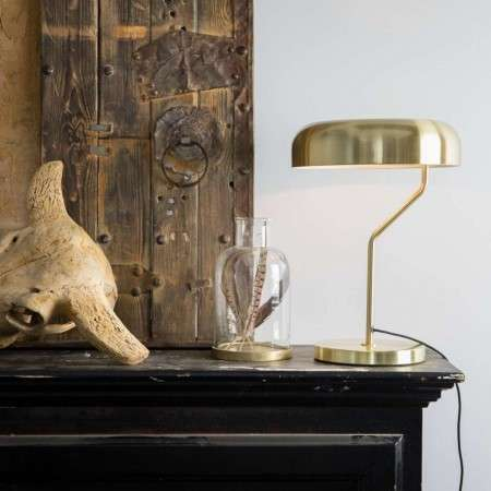 Dutchbone Eclipse Table Lamp in a Brass Finish