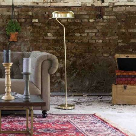 Dutchbone Eclipse Brushed Brass Floor Standing Lamp