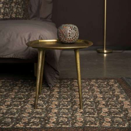 Dutchbone Abbas Brass Side table with Moroccan Influences