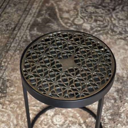 Dutchbone Sari Brass Top Side Table from Accessories for the Home
