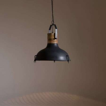 Dutchbone Raw Iron and Wood Pendant Light from Accessories for the Home