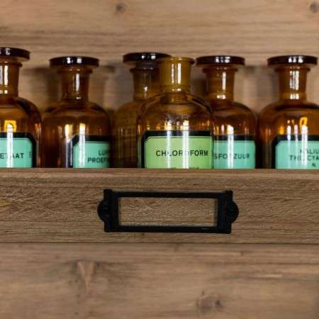 Dutchbone Lit Vintage Style Wooden Wall Shelf from Accessories for the Home