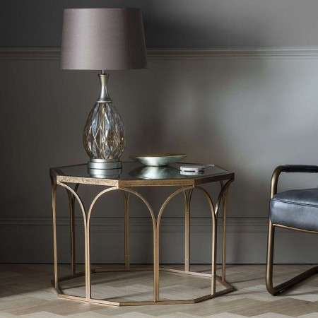 Cairns Copper and Mirror Top Coffee Table