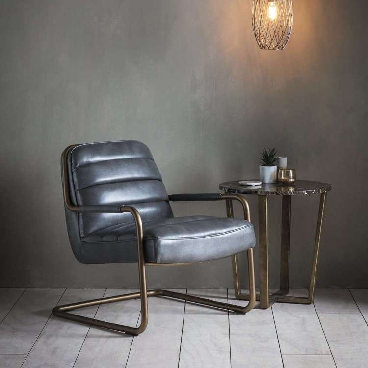Swindon Lounge Chair Pewter from Accessories for the Home