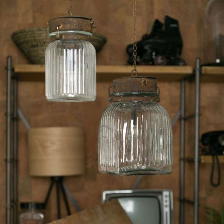 Dutchbone Hanging Gabe Vintage Style Pendant Light from Accessories for the Home